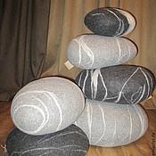 Для дома и интерьера ручной работы. Ярмарка Мастеров - ручная работа Камни валяные-подушки. Handmade.