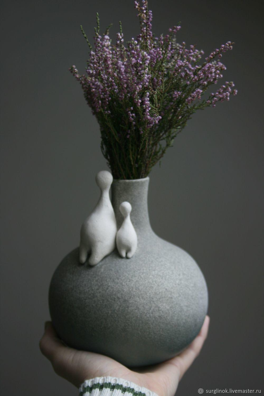 Handmade ceramic vase. Two, Vases, Pskov,  Фото №1
