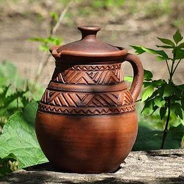"""Посуда ручной работы. Ярмарка Мастеров - ручная работа Кувшин керамический для воды """"Добрый с узором"""". Handmade."""