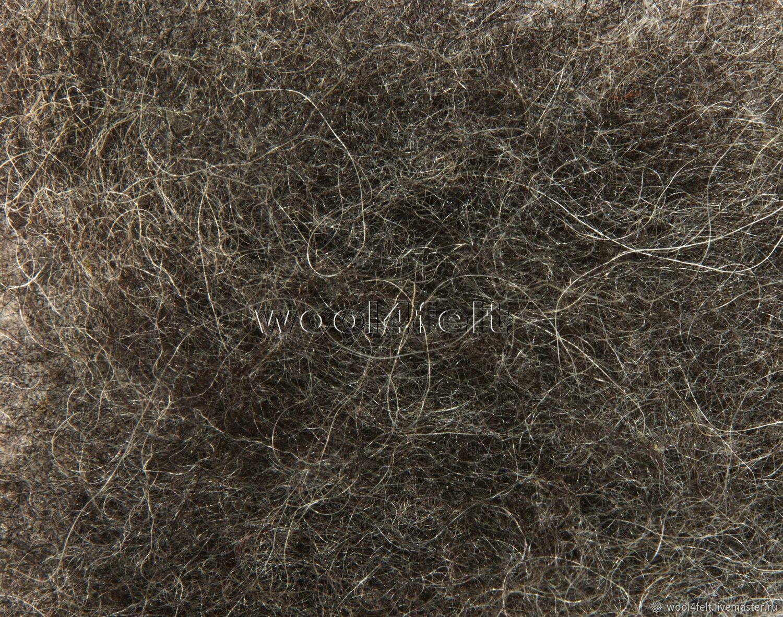 Шерсть Бергшаф кардочес темно-серый (№523) Австрия. 50 г, Шерсть, Рига,  Фото №1