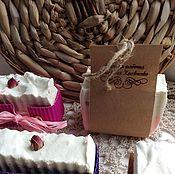 Косметика ручной работы. Ярмарка Мастеров - ручная работа Малина с молоком( мыло с нуля). Handmade.