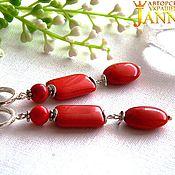 Украшения handmade. Livemaster - original item Coral. Earrings with corals.. Handmade.