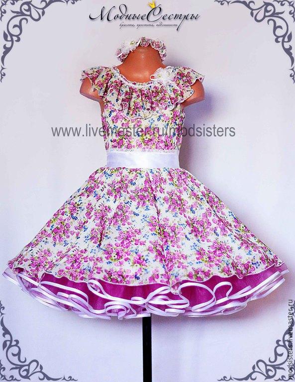 Цветы на детское платье