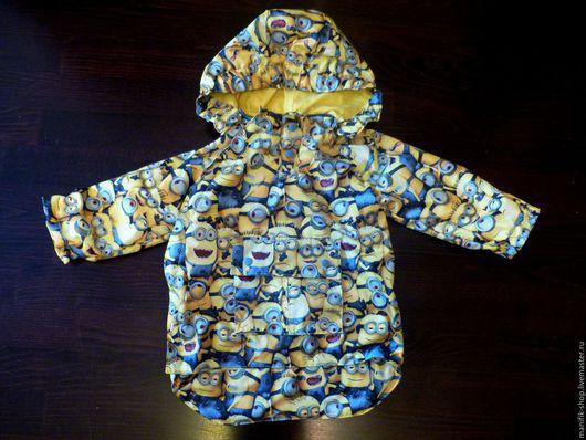 Одежда для мальчиков, ручной работы. Ярмарка Мастеров - ручная работа. Купить Ветровка Миньоны. Handmade. Комбинированный, ветровка с миньонами