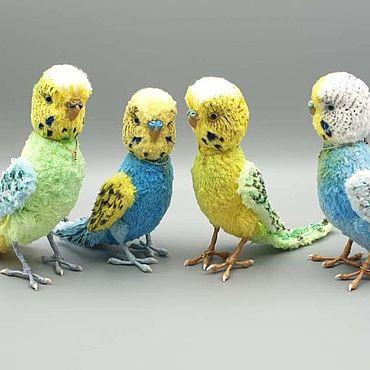 """Куклы и игрушки ручной работы. Ярмарка Мастеров - ручная работа Волнистые попугайчики """"Тедди"""" (голубой продан). Handmade."""