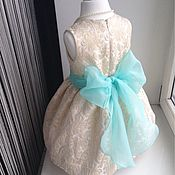 Работы для детей, ручной работы. Ярмарка Мастеров - ручная работа Золотое нарядное платье для девочки. Handmade.