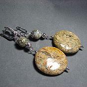 Украшения handmade. Livemaster - original item Large earrings with moss chalcedony