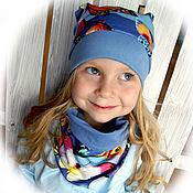 Работы для детей, ручной работы. Ярмарка Мастеров - ручная работа Комплект для девочки - шапка и снуд. Handmade.