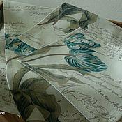 """Для дома и интерьера ручной работы. Ярмарка Мастеров - ручная работа Дорожки + салфетки """"Tulips Blue"""". Handmade."""