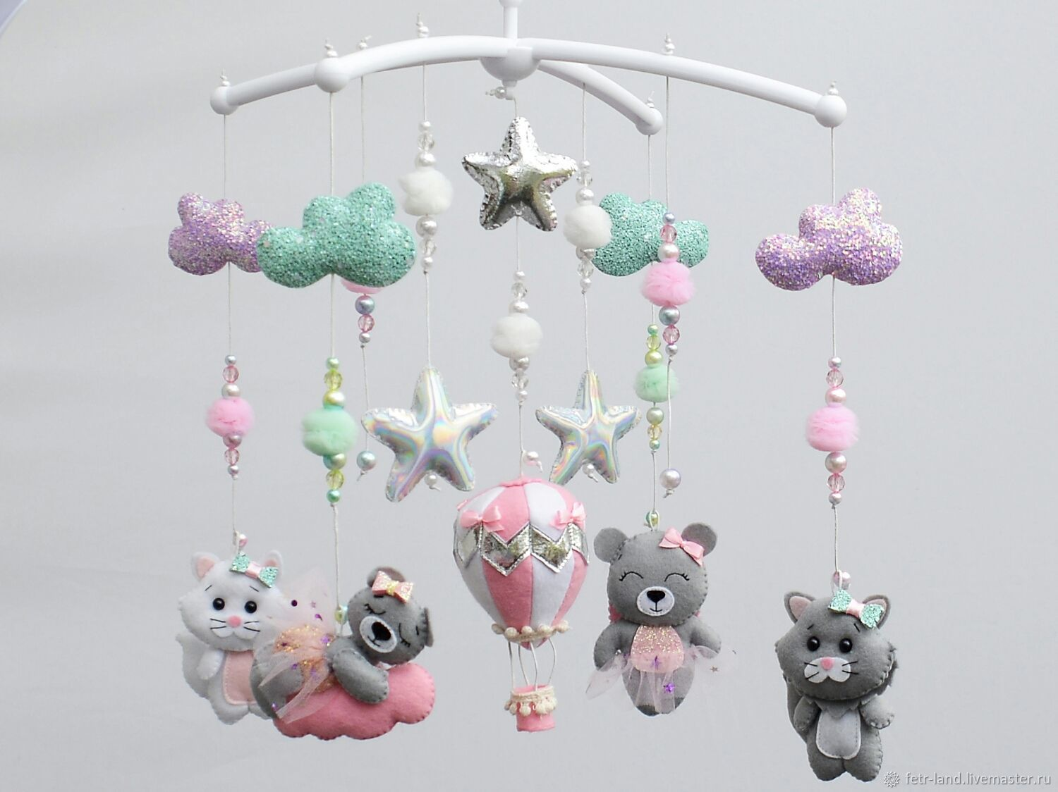 Mobiles on the crib: ' Balloon, Bears and kittens', Toys for cribs, Belgorod,  Фото №1