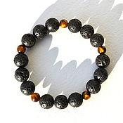 Фен-шуй и эзотерика handmade. Livemaster - original item Men`s bracelet made of lava. Handmade.