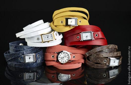 """Часы ручной работы. Ярмарка Мастеров - ручная работа. Купить Часы """"Ассорти"""". Handmade. Часы, браслет из кожи, часы с подвесками"""