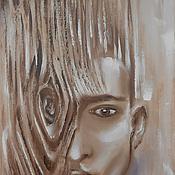 """Картины и панно ручной работы. Ярмарка Мастеров - ручная работа Картина маслом """"ОН"""",40х60,(портрет,мужчина). Handmade."""