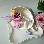 """Куклы и игрушки ручной работы. Ярмарка Мастеров - ручная работа Чайная фея  в кружке """"Маленькая воришка"""". Handmade."""