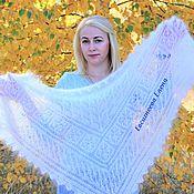 Аксессуары handmade. Livemaster - original item scarves: Openwork down scarf
