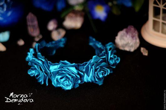 Ободок на голову `Голубая лагуна`