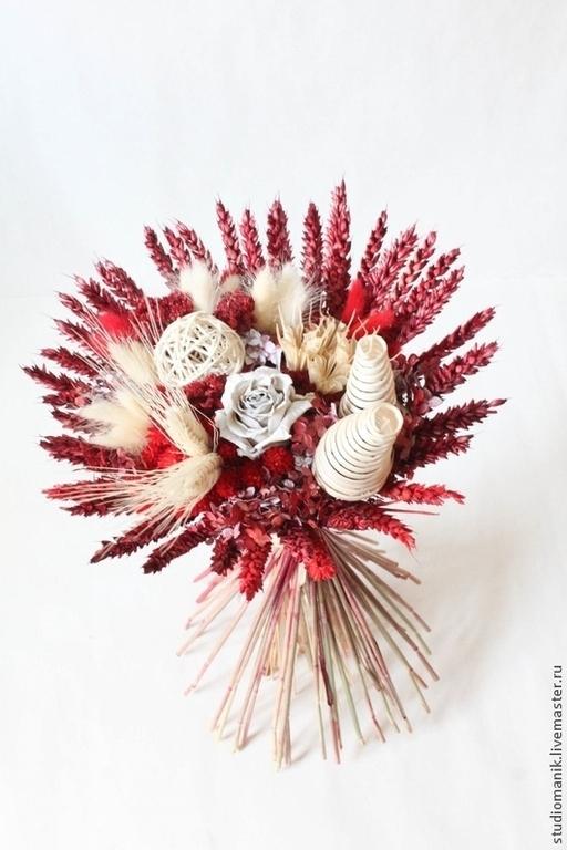 Букеты ручной работы. Ярмарка Мастеров - ручная работа. Купить Букет - Белая Роза. Handmade. Букет, интерьерное украшение, цветы
