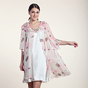 Одежда ручной работы. Ярмарка Мастеров - ручная работа 195: шелковое платье комбинация, летний комплект с платьем из шелка. Handmade.