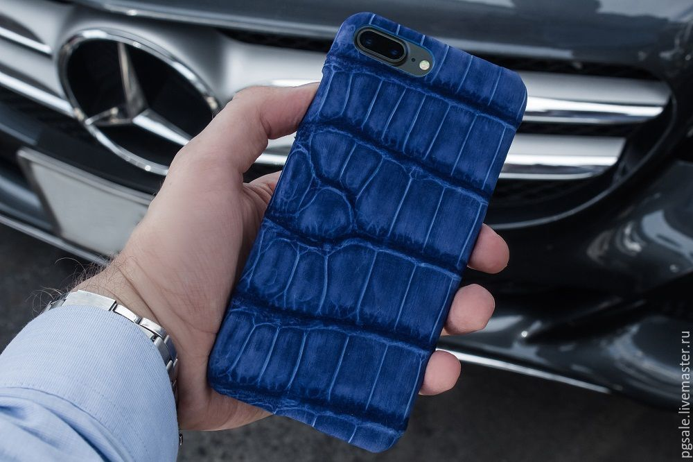 Case for IPhone 7/8 crocodile skin, leather case for iphone 7