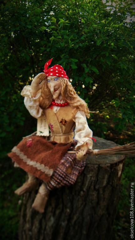 Сказочные персонажи ручной работы. Ярмарка Мастеров - ручная работа. Купить Баба Яга. Handmade. Разноцветный, текстильная кукла