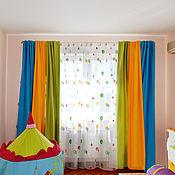 Для дома и интерьера ручной работы. Ярмарка Мастеров - ручная работа Шторы для детской для дошкольника. Handmade.