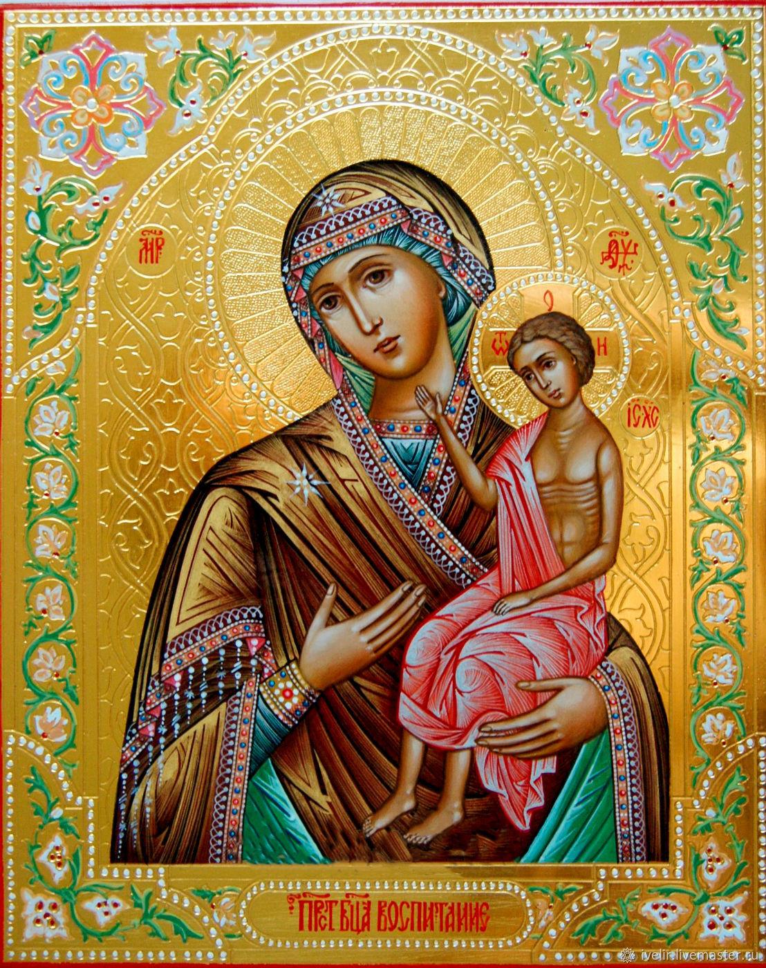 Икона Богородицы Воспитание – заказать на Ярмарке Мастеров – LT58CRU |  Иконы, Москва