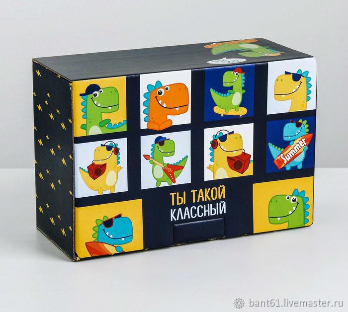 Упаковка ручной работы. Ярмарка Мастеров - ручная работа. Купить Коробка 'Ты такой классный' 22х15х10 см. Handmade. 23 февраля