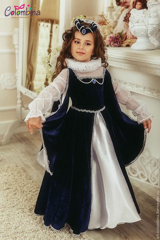 Детские карнавальные костюмы ручной работы. Ярмарка Мастеров - ручная работа. Купить Костюм королевы. Handmade. Тёмно-синий