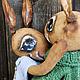 """Ароматизированные куклы ручной работы. Ярмарка Мастеров - ручная работа. Купить Зайчики """"За весенним ветром"""". Handmade. Зеленый, зайчики"""