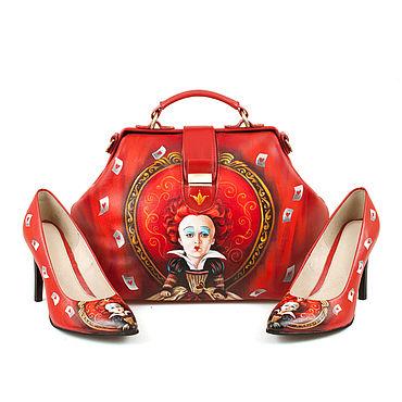 """Обувь ручной работы. Ярмарка Мастеров - ручная работа Туфли лодочки """"Красная королева """". Handmade."""