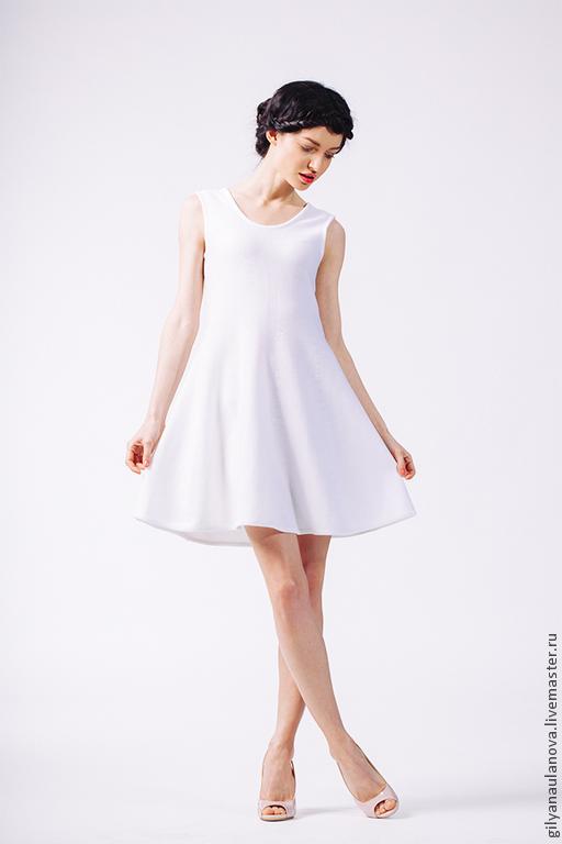 Платья ручной работы. Ярмарка Мастеров - ручная работа. Купить Платье с вырезом на спине. Handmade. Белый