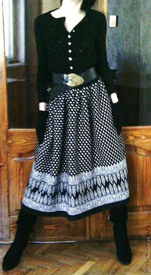 """Юбки ручной работы. Ярмарка Мастеров - ручная работа. Купить юбка тёплая """"Зимний горошек"""". Handmade. Чёрно-белый"""