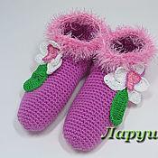 """Обувь ручной работы. Ярмарка Мастеров - ручная работа Тапочки вязаные """"Орхидея"""".. Handmade."""