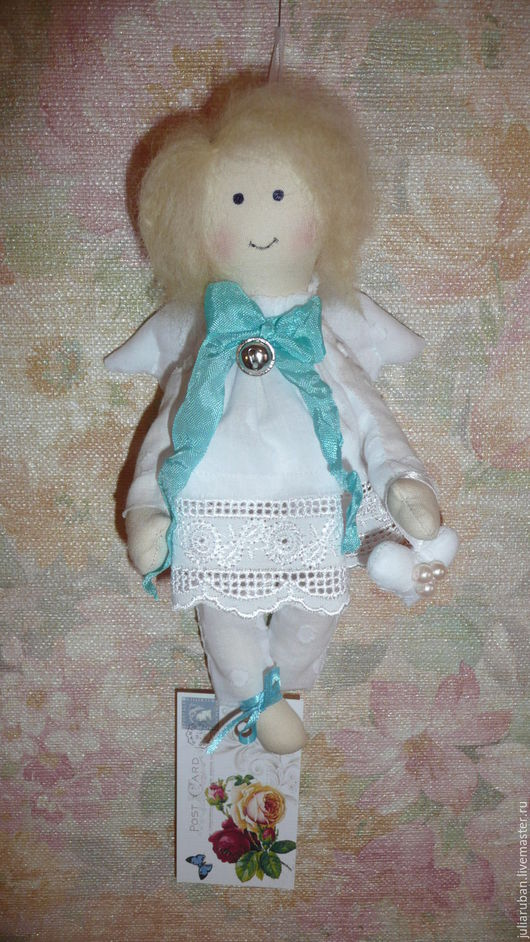 Куклы Тильды ручной работы. Ярмарка Мастеров - ручная работа. Купить Ангелочек!! Текстильная куколка!. Handmade. Белый, текстильная кукла