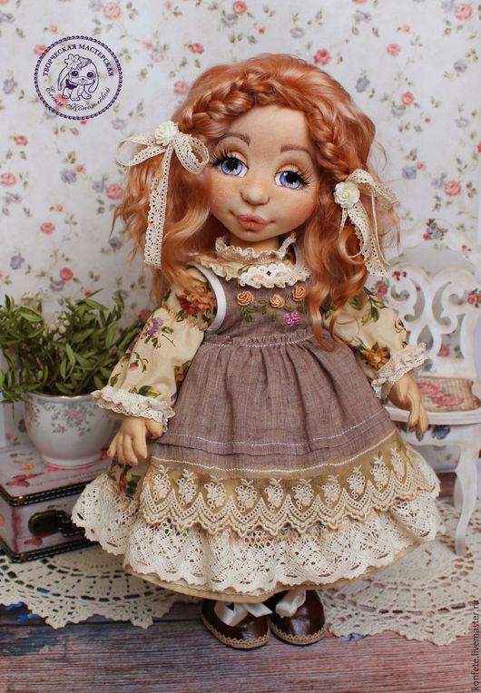 Коллекционные куклы ручной работы. Ярмарка Мастеров - ручная работа. Купить Кукла Беатрис текстильная интерьерная с объемным личиком. Handmade.