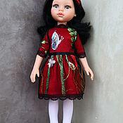 Куклы и игрушки handmade. Livemaster - original item Party dress and headband for Paola Reina doll (red). Handmade.