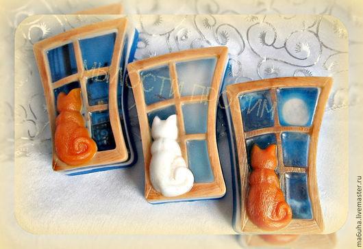 Мыло ручной работы. Ярмарка Мастеров - ручная работа. Купить Мыло Кошки на окошке. Handmade. Мыло, мыло сувенирное, окно