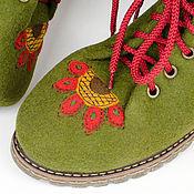 """Ботинки ручной работы. Ярмарка Мастеров - ручная работа Ботинки из войлока """"Frida"""". Handmade."""