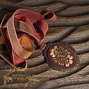 Украшения handmade. Livemaster - original item Embroidered pendant the Color of autumn. Handmade.