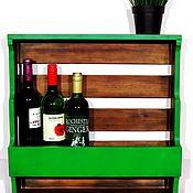 Для дома и интерьера handmade. Livemaster - original item Shelf for bottles and glasses. Handmade.