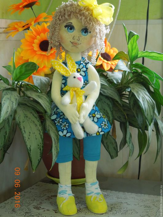 Кукольный дом ручной работы. Ярмарка Мастеров - ручная работа. Купить Кукла Алиса. Handmade. Текстильная кукла, кукла из ткани