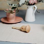 Куклы и игрушки handmade. Livemaster - original item Wooden rattle made of cedar with a filler millet WT3. Handmade.
