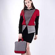 Sweaters handmade. Livemaster - original item Bright knitted sweater, a beret folder with handles. Handmade.