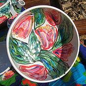 Посуда ручной работы. Ярмарка Мастеров - ручная работа Аленький цветочек, мисочка для завтрака. Handmade.
