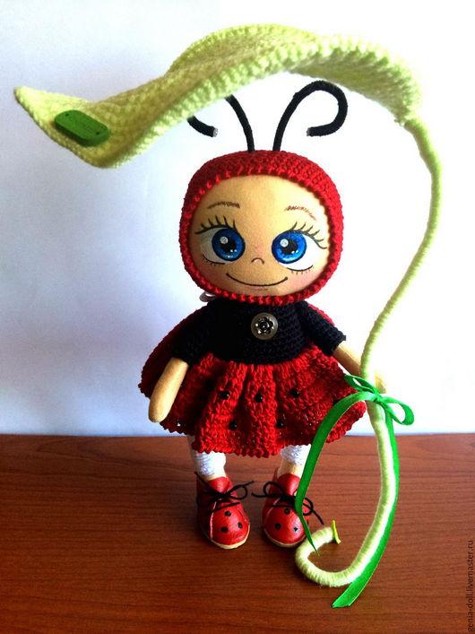 Человечки ручной работы. Ярмарка Мастеров - ручная работа. Купить Куколка в костюмчике Божья Коровка!. Handmade. Комбинированный, кукла текстильная