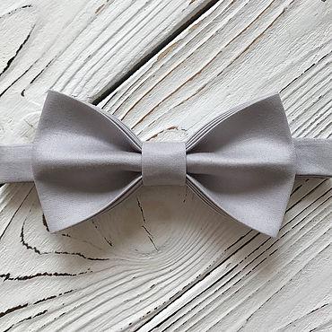 Аксессуары ручной работы. Ярмарка Мастеров - ручная работа Галстук-бабочка серый, оттенок 01. Handmade.