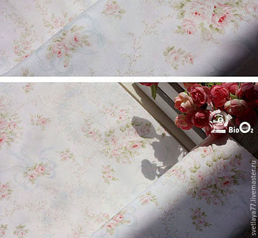 Шитье ручной работы. Ярмарка Мастеров - ручная работа. Купить Ткань. Розы .Хлопок. Корея.. Handmade. Ткань, хлопок
