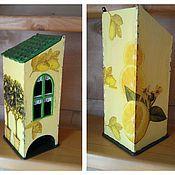 """Для дома и интерьера ручной работы. Ярмарка Мастеров - ручная работа Чайный домик """"Лимонное настроение"""". Handmade."""