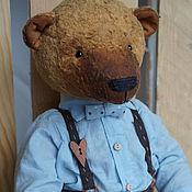 Куклы и игрушки ручной работы. Ярмарка Мастеров - ручная работа Михайло Потапыч  - коллекционный плюшевый медведь. Handmade.