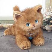 Мягкая игрушка котенок Апельсин